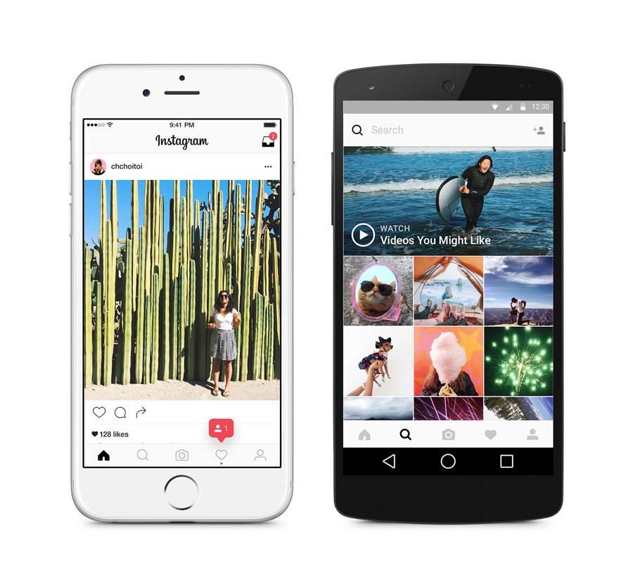 Instagram in der Smartphone Version für Apple und Android